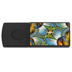 Random Fractal Background Image Usb Flash Drive Rectangular (4 Gb) by Simbadda