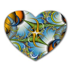 Random Fractal Background Image Heart Mousepads by Simbadda