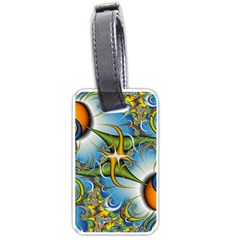 Random Fractal Background Image Luggage Tags (one Side)  by Simbadda