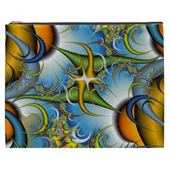 Random Fractal Background Image Cosmetic Bag (xxxl)  by Simbadda