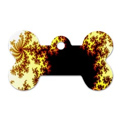A Fractal Image Dog Tag Bone (one Side) by Simbadda