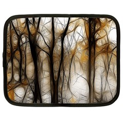 Fall Forest Artistic Background Netbook Case (large) by Simbadda