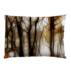 Fall Forest Artistic Background Pillow Case by Simbadda