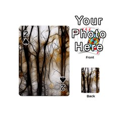 Fall Forest Artistic Background Playing Cards 54 (mini)  by Simbadda