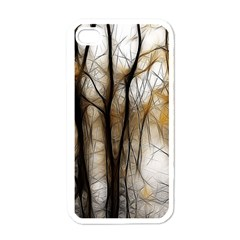 Fall Forest Artistic Background Apple Iphone 4 Case (white)