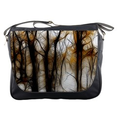 Fall Forest Artistic Background Messenger Bags by Simbadda