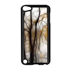 Fall Forest Artistic Background Apple Ipod Touch 5 Case (black) by Simbadda
