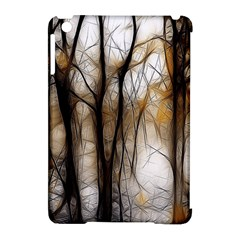 Fall Forest Artistic Background Apple Ipad Mini Hardshell Case (compatible With Smart Cover) by Simbadda