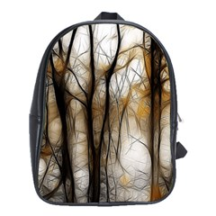 Fall Forest Artistic Background School Bags (xl)  by Simbadda