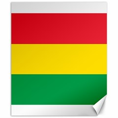 Rasta Colors Red Yellow Gld Green Stripes Pattern Ethiopia Canvas 8  X 10