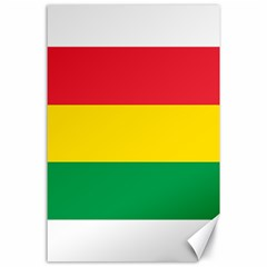 Rasta Colors Red Yellow Gld Green Stripes Pattern Ethiopia Canvas 24  X 36  by yoursparklingshop