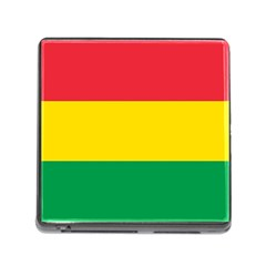 Rasta Colors Red Yellow Gld Green Stripes Pattern Ethiopia Memory Card Reader (square) by yoursparklingshop
