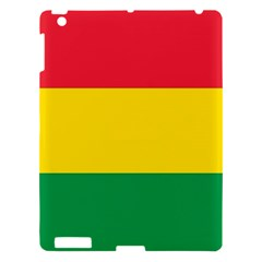 Rasta Colors Red Yellow Gld Green Stripes Pattern Ethiopia Apple Ipad 3/4 Hardshell Case by yoursparklingshop