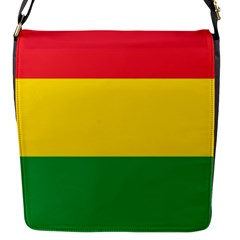 Rasta Colors Red Yellow Gld Green Stripes Pattern Ethiopia Flap Messenger Bag (s) by yoursparklingshop
