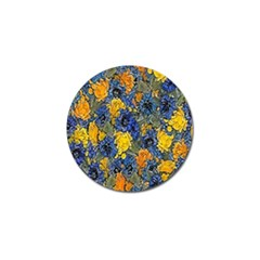 Floral Pattern Background Golf Ball Marker by Simbadda