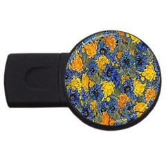 Floral Pattern Background Usb Flash Drive Round (2 Gb)