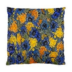 Floral Pattern Background Standard Cushion Case (one Side) by Simbadda