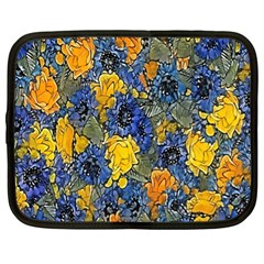 Floral Pattern Background Netbook Case (xl)  by Simbadda