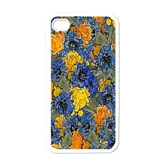 Floral Pattern Background Apple Iphone 4 Case (white) by Simbadda