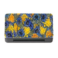 Floral Pattern Background Memory Card Reader With Cf by Simbadda