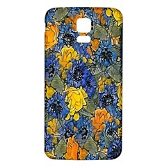 Floral Pattern Background Samsung Galaxy S5 Back Case (white) by Simbadda