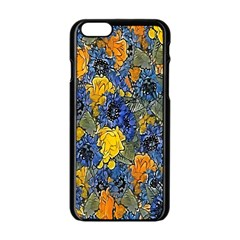 Floral Pattern Background Apple Iphone 6/6s Black Enamel Case by Simbadda
