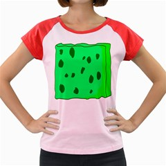 Alien Spon Green Women s Cap Sleeve T Shirt