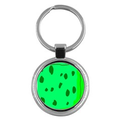 Alien Spon Green Key Chains (round)