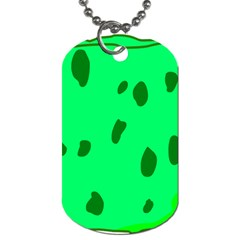 Alien Spon Green Dog Tag (one Side)