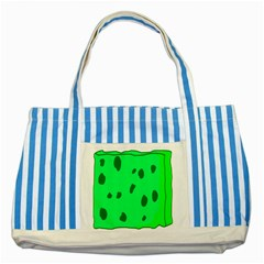 Alien Spon Green Striped Blue Tote Bag