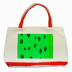 Alien Spon Green Classic Tote Bag (red) by Alisyart