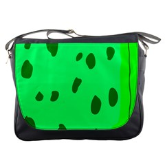 Alien Spon Green Messenger Bags by Alisyart