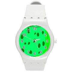 Alien Spon Green Round Plastic Sport Watch (m)