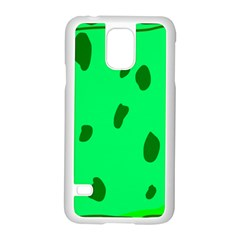 Alien Spon Green Samsung Galaxy S5 Case (white)