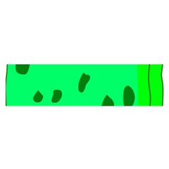 Alien Spon Green Satin Scarf (oblong)