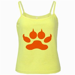 Bear Paw Yellow Spaghetti Tank