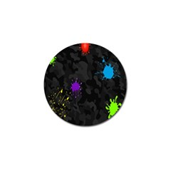 Black Camo Spot Green Red Yellow Blue Unifom Army Golf Ball Marker