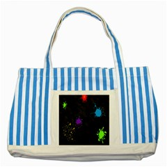 Black Camo Spot Green Red Yellow Blue Unifom Army Striped Blue Tote Bag