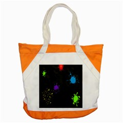 Black Camo Spot Green Red Yellow Blue Unifom Army Accent Tote Bag