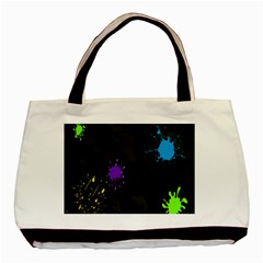Black Camo Spot Green Red Yellow Blue Unifom Army Basic Tote Bag (two Sides) by Alisyart
