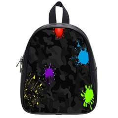 Black Camo Spot Green Red Yellow Blue Unifom Army School Bags (small)