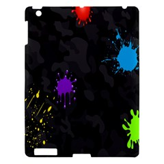 Black Camo Spot Green Red Yellow Blue Unifom Army Apple Ipad 3/4 Hardshell Case by Alisyart