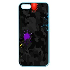Black Camo Spot Green Red Yellow Blue Unifom Army Apple Seamless Iphone 5 Case (color) by Alisyart