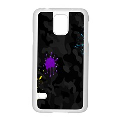 Black Camo Spot Green Red Yellow Blue Unifom Army Samsung Galaxy S5 Case (white)