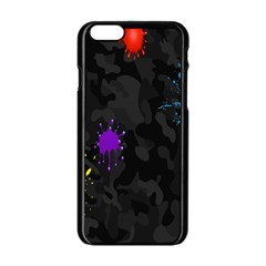 Black Camo Spot Green Red Yellow Blue Unifom Army Apple Iphone 6/6s Black Enamel Case