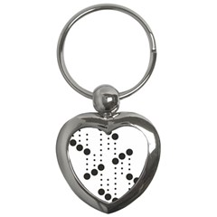 Black Circle Key Chains (heart)  by Alisyart