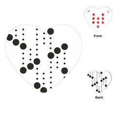 Black Circle Playing Cards (heart)  by Alisyart