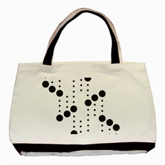 Black Circle Basic Tote Bag (two Sides)