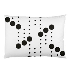 Black Circle Pillow Case (two Sides) by Alisyart