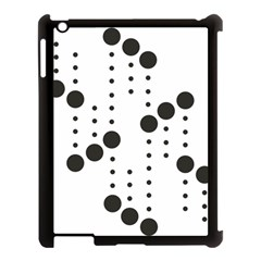 Black Circle Apple Ipad 3/4 Case (black) by Alisyart